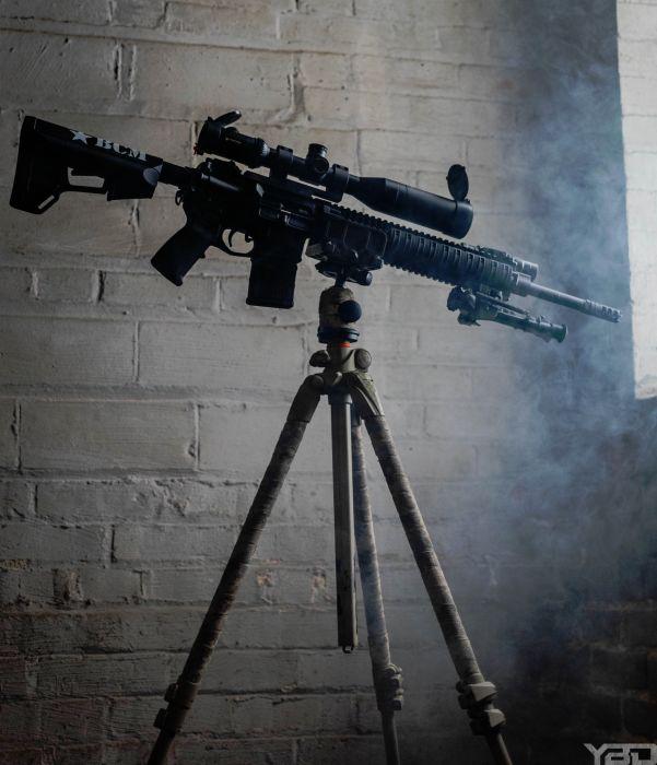 MK12 SPR in an urban sniper hide.