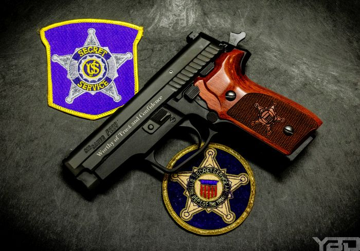 Secret Service Commemorative Edition Sig Sauer P229 chambered in 357 SIG.