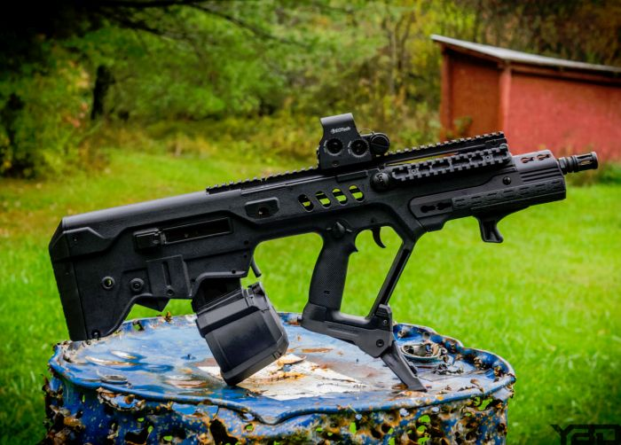 IWI Tavor with EO-Tech Holographic Sight.
