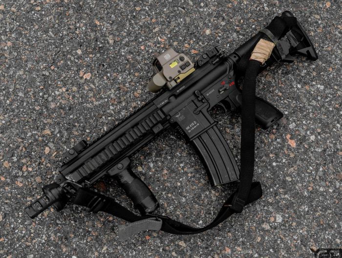 Heckler & Koch 416 with EO-Tech Holographic Sight.
