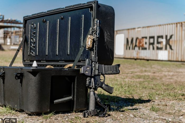 Daniel Defense DDM4v7s with EO-Tech Holographic Sight and ATPIAL Laser Device.