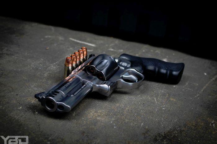 S&W 500 Magnum revolver.