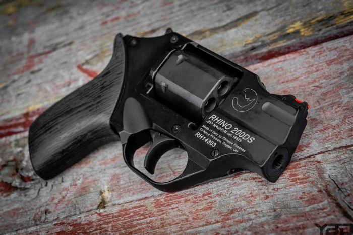 Chiappa Firearms Rhino snub nose revolver chambered in 357 magnum.