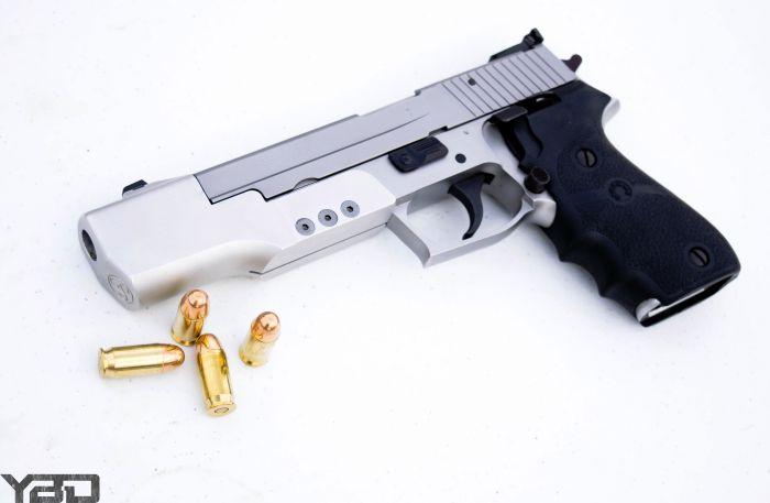 A rare Sig Sauer P220 Sport.