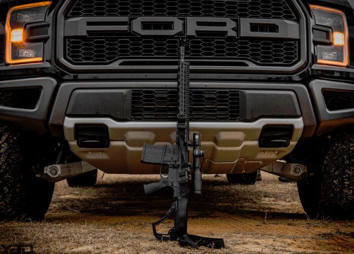 A Daniel Defense DD5V1 and Ford Raptor.