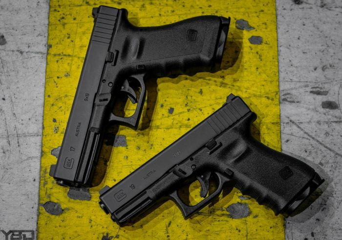 A Vickers Tactical Glock 17 and Glock 19.