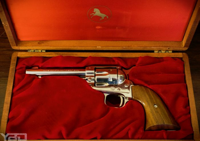 A Colt Single Action Frontier Scout revolver in 22LR.