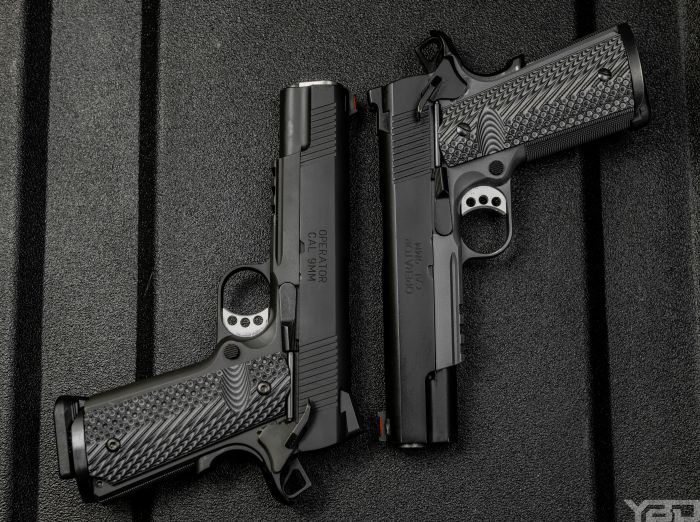 Two Springfield Range Officer Operators chambered in 9MM.