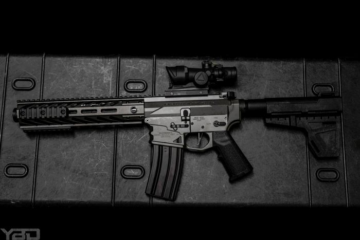 A sweet little NEMO ARMS 300BLK AR Pistol with a Trijicon ACOG