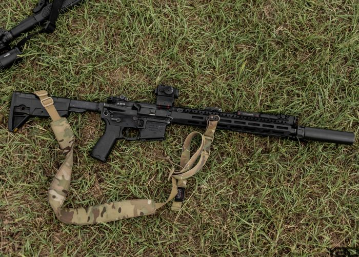 Jared Reston's perfect rifle taking a break during their Performance Gunfighting MOD 1 course at GTI.