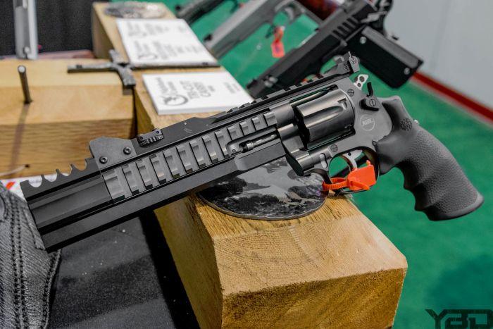 If Robocop and Terminator designed a gun it would be the Nighthawk Custom/Korth Super Sport Revolver in 357 magnum.