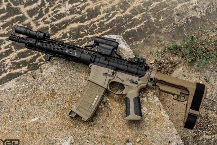 A PWS/Bootleg Inc AR Pistol.