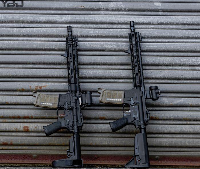 Two PWS MK111 ARs.  Left:  MK 111 MOD 2-M  Right:  MK 111 MOD 1
