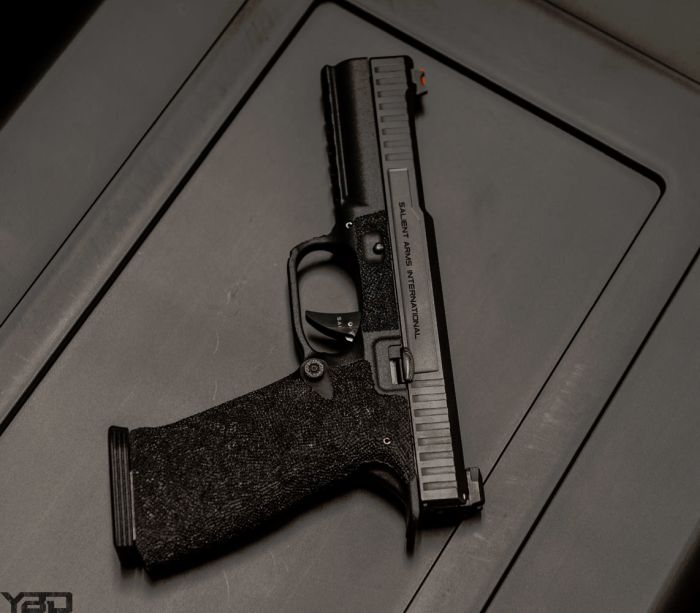 The Salient Arms International (SAI) STRIKE TIER ONE pistol.