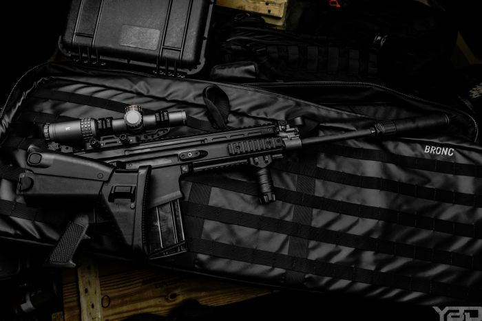 The FNH SCAR17s with MERCON MK1 1-6 optic tucked inside a ZRO Delta mount with an OSS Suppressor to top it off.
