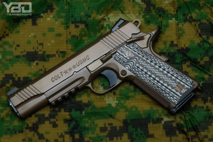 The Colt M45A1 USMC Rollmark Edition from the Colt Custom Shop.