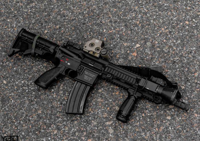 A Heckler & Koch HK416.