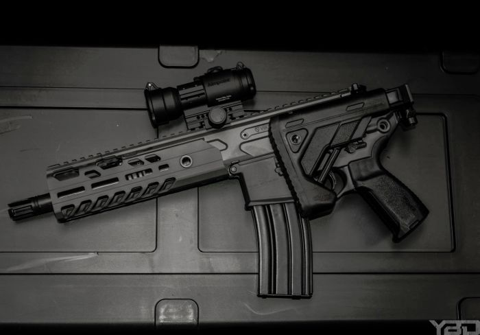 I love the Sig Sauer MCX VIRTUS and its folding stock system espcially when it has a short barrel.