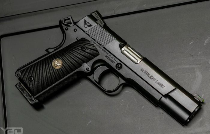 The flawless Wilson Combat Ultralight Carry 1911.