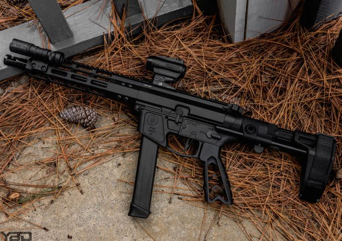 The PWS PCC-9 with Maxim Defense PDW Pistol Brace.
