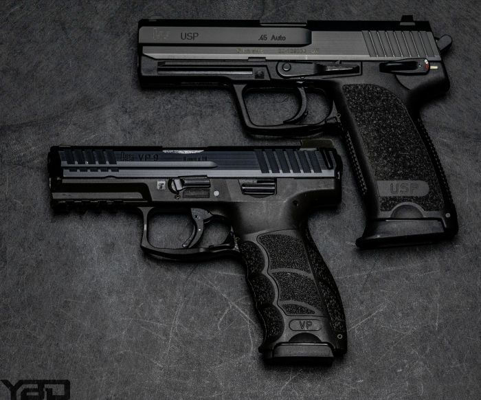 Which would you pick?  Top:  HK USP 45  Bottom: HK VP9LE
