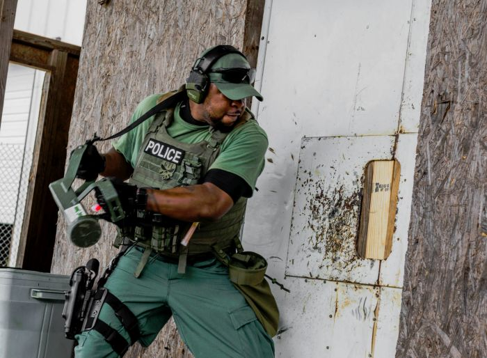 Working the ram during our Tactical Breaching Course.