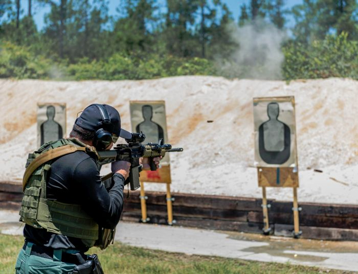 Live fire training on our range during our Basic SWAT Course.