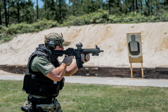 Multiple target engagements during our Basic SWAT Course.