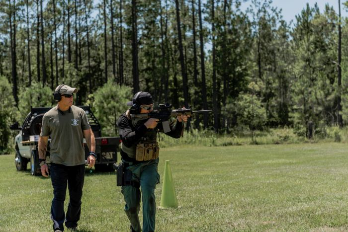 Moving and shooting during our Basic SWAT Course.