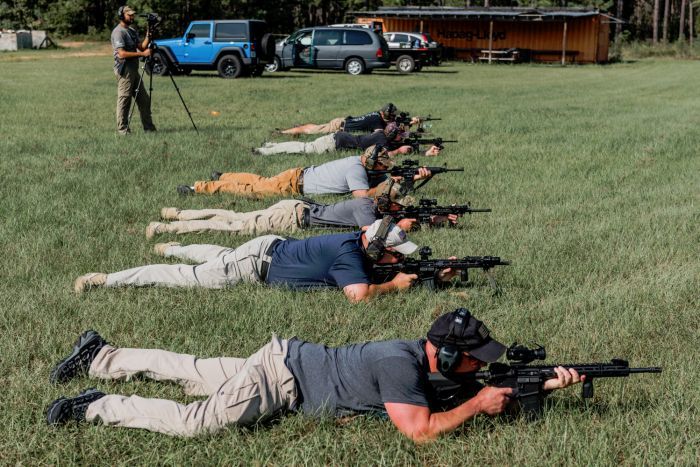 Shooting prone during our civilian training course called Gunfighter Carbine Phase 1.