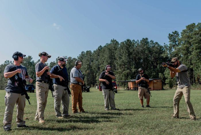 Tactical Instructor Allen Ford teaching students rifle manipulations during our civilian rifle course.