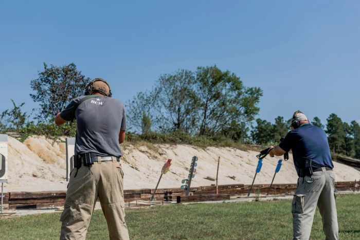 Father and son bonding on the range during our Gunfighter Carbine course.