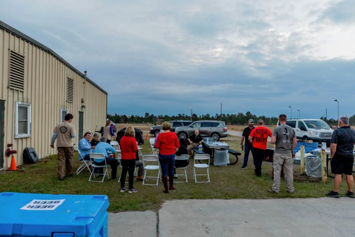 After the event was over everyone stayed for a holiday clam bake!