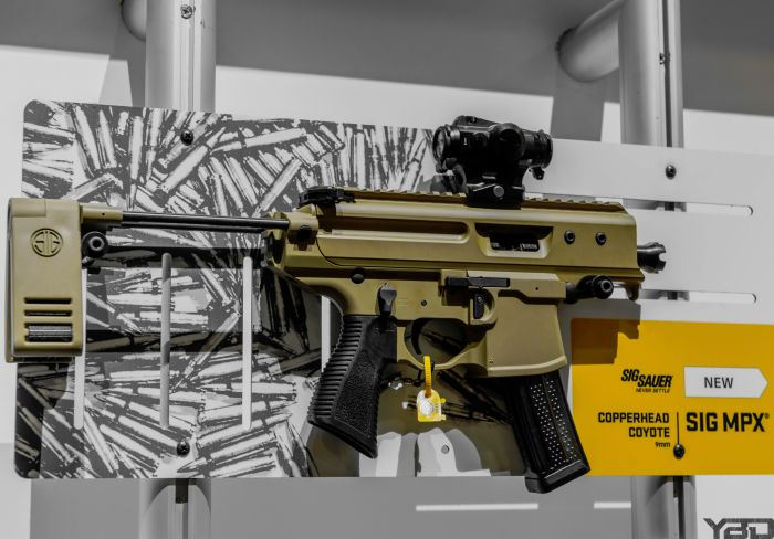 The new Sig Sauer Copperhead MPX at SHOT Show 2019. This sucker is extremely short.