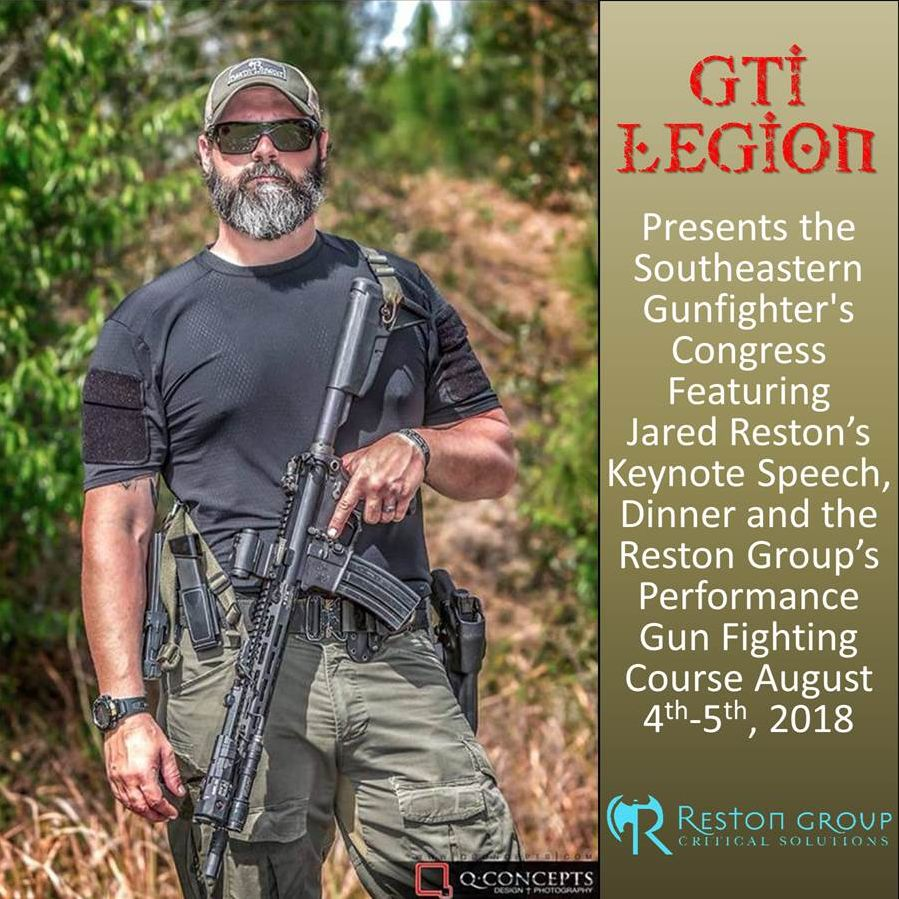 Southeastern Gunfighter's Congress Featuring Jared Reston and Reston Group's 2-Day Performance Gun Fighting - Mod 1 Course