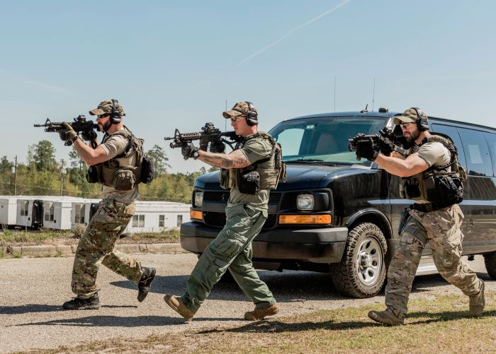 DHS typing system SWAT courses expose operators to several different tactical scenarios using Simunition, UTM and SRTA against OPFOR.
