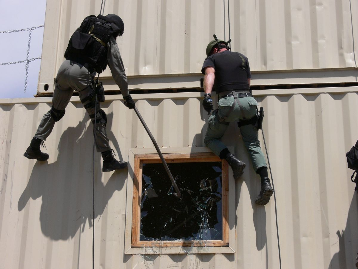 GTI's DHS Type I SWAT Rappelling Exercises.