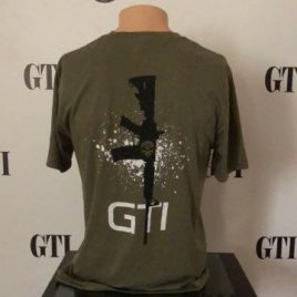 Tee GTI Skull M4 Rifle Military Green