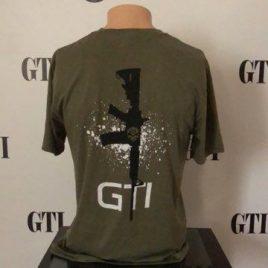 Tee GTI Skull M4 Rifle Military Green