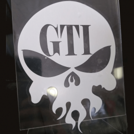 GTI Skull Window Decal