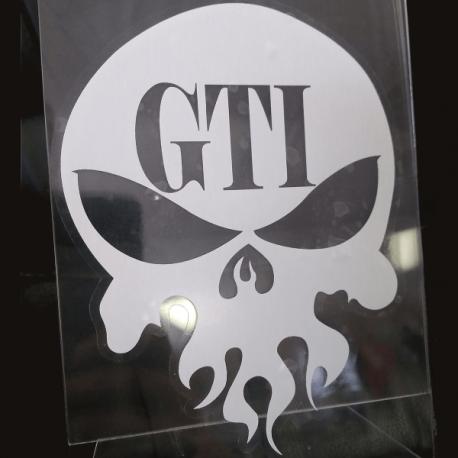 GTI Skull Window Decal