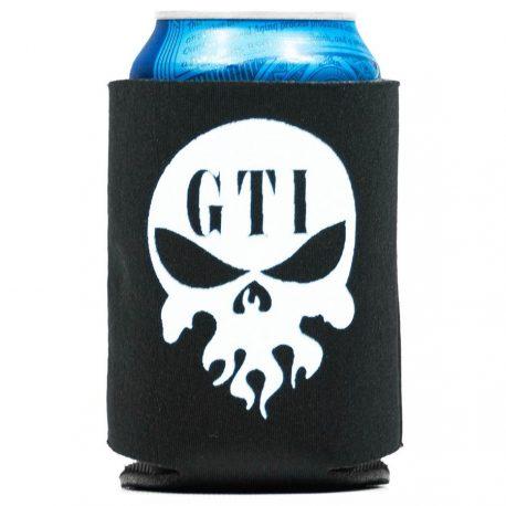 Koozie Black GTI Skull Logo With Can