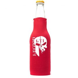 Koozie Red Bottle GTI Legion Logo