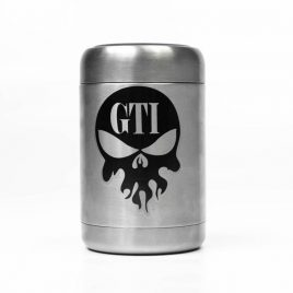 Koozie SS Black Front No Can