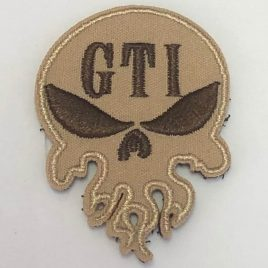 GTI Velcro Skull Patch Coyote 2″
