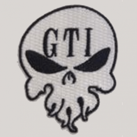 Patch White GTI Skull Logo