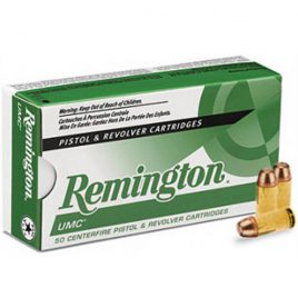 Remington UMC 40 Smith & Wesson 180 Grain FMJ – $200 Case of 500