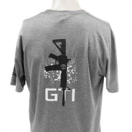 Tee GTI Skull M4 Rifle and Blue Line Flag