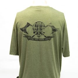 Tee Military Green GTI Skull and Ax Design