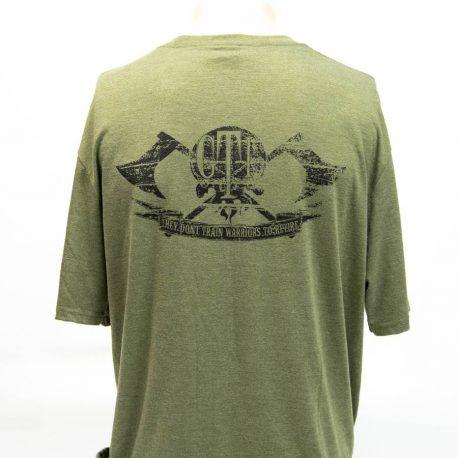 T Shirt Military Green GTI Skull Broadaxe Back